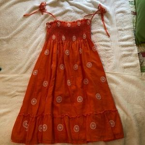 Orange J Crew sundress